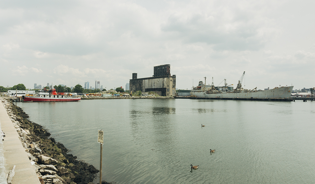 The site of RETI BlueCity Lab off Columbia Street Pier in Red Hook