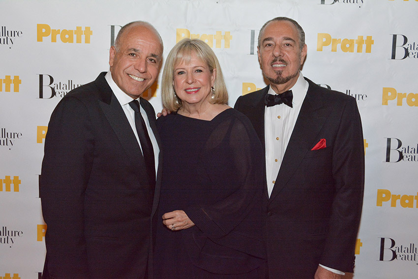 Image (L-R): Honoree Sam Ghusson, Honoree Robin Burns-McNeil, Marc Rosen (photo: Andrew Werner)