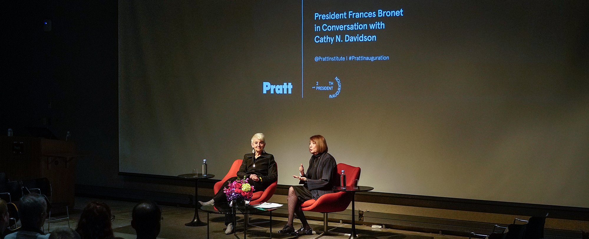 President Bronet and Cathy N. Davidson