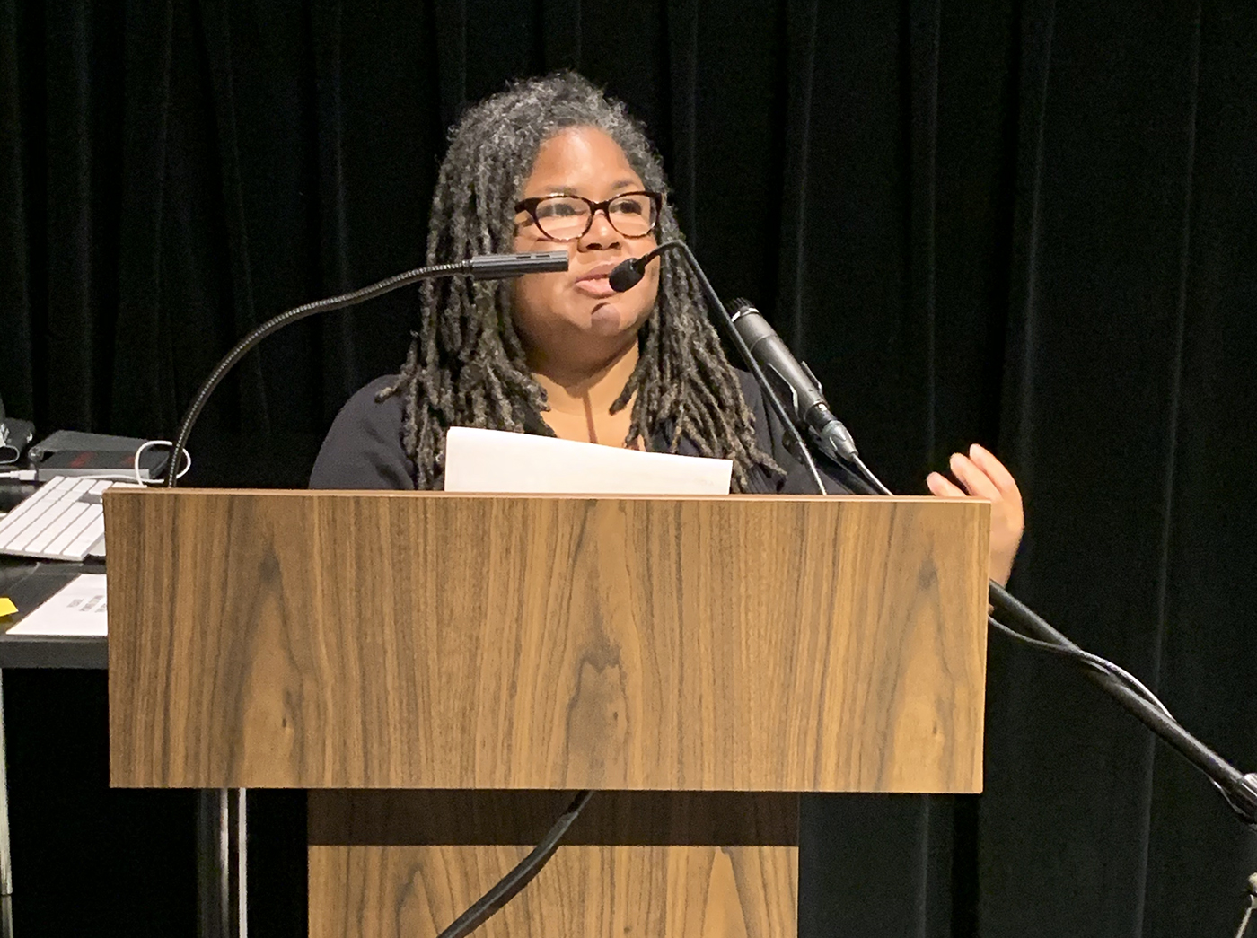 Katherine Cheairs speaking at Pratt (courtesy Office of Diversity, Equity and Inclusion)