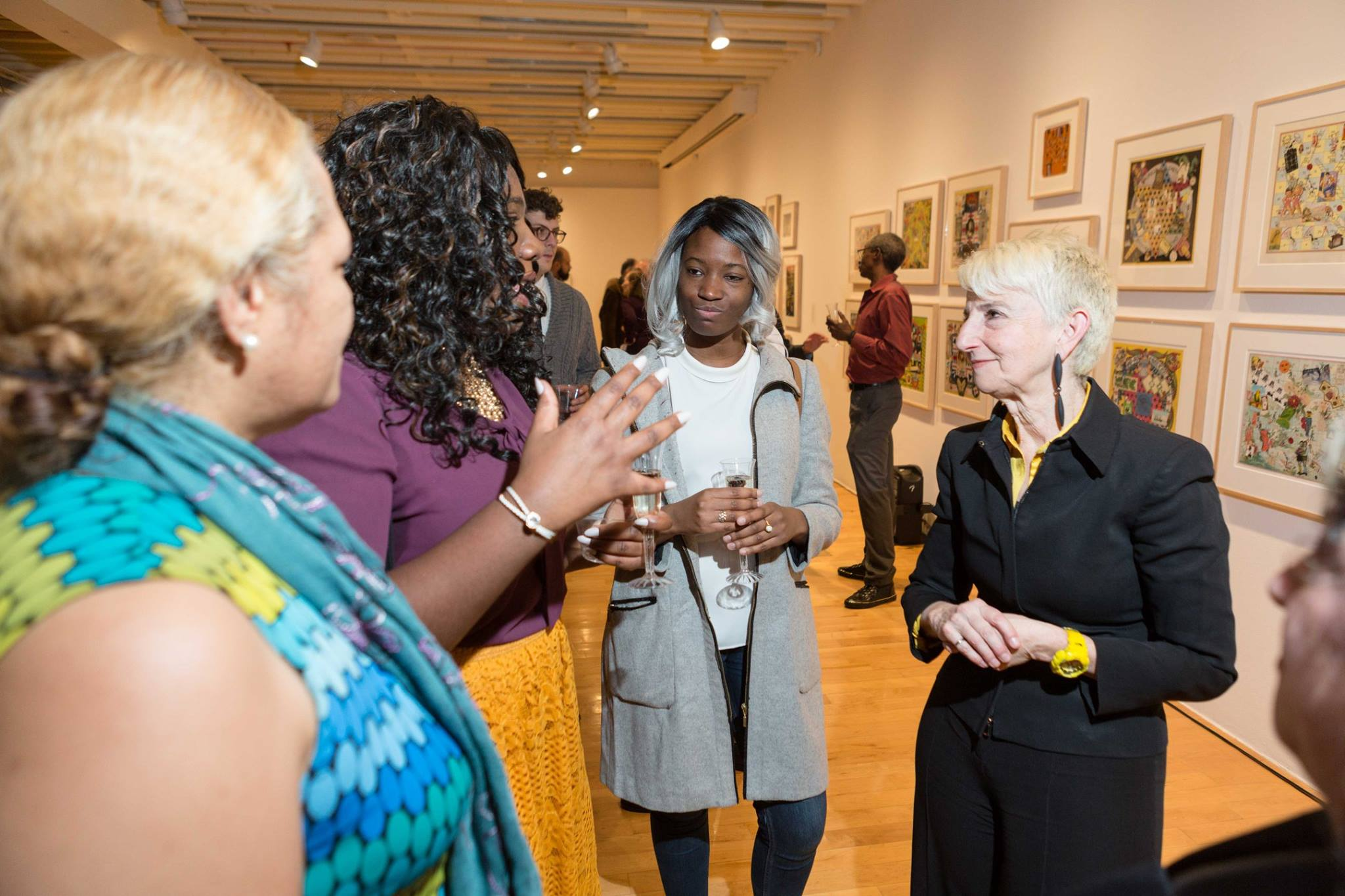 President Bronet at the Ashbery Exhibition reception