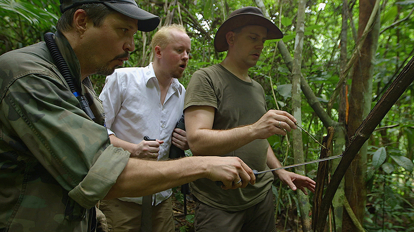 scorpion in bamboo shaft, Dr. Greg Pohland, Dr. Peter Mullen