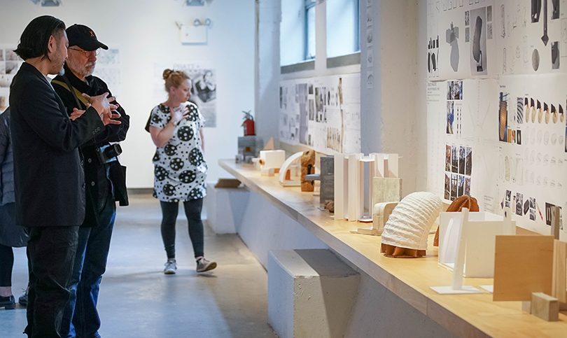 Opening of the exhibition at the Noguchi Museum