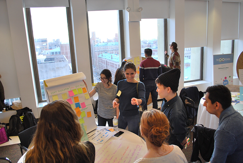 Students participating in the 2017 DOathon at the Brooklyn Navy Yard