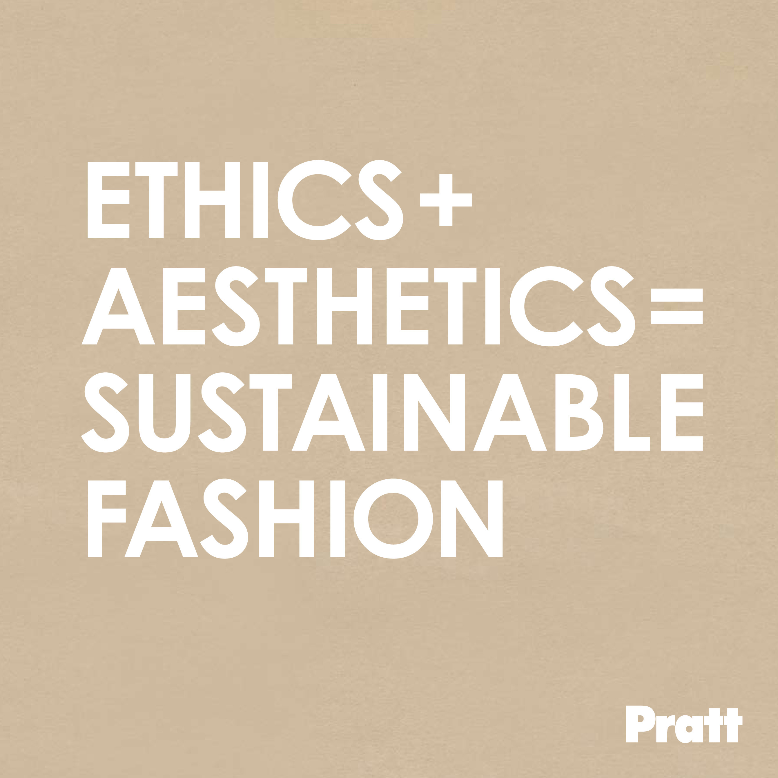 Ethics + Aesthetics = Sustainable Fashion catalog cover