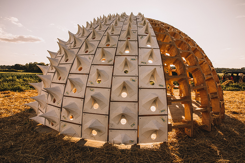 The Pollinators Pavilion sits atop a hill on the grounds of Old Mud Creek Farm. Photo by Lily Landes.