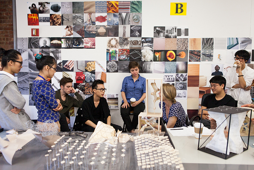 Students in a design studio