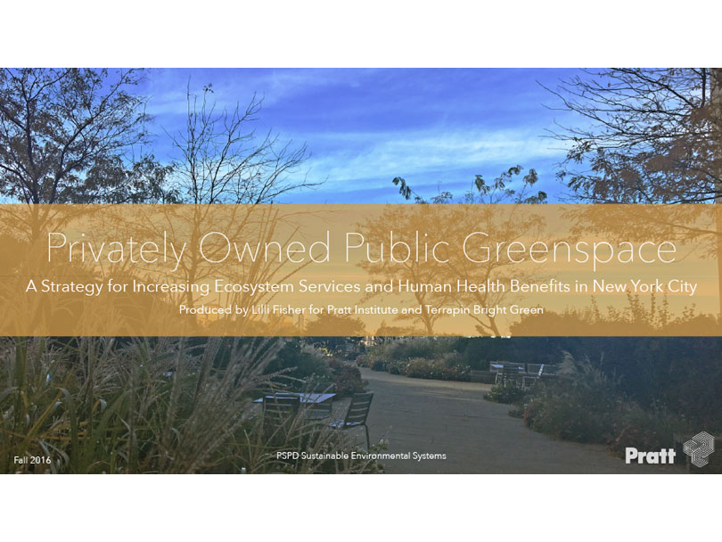 Privately Owned Public Green Space