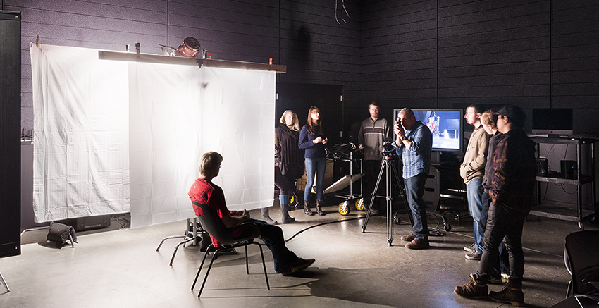 Students working on a photoshoot