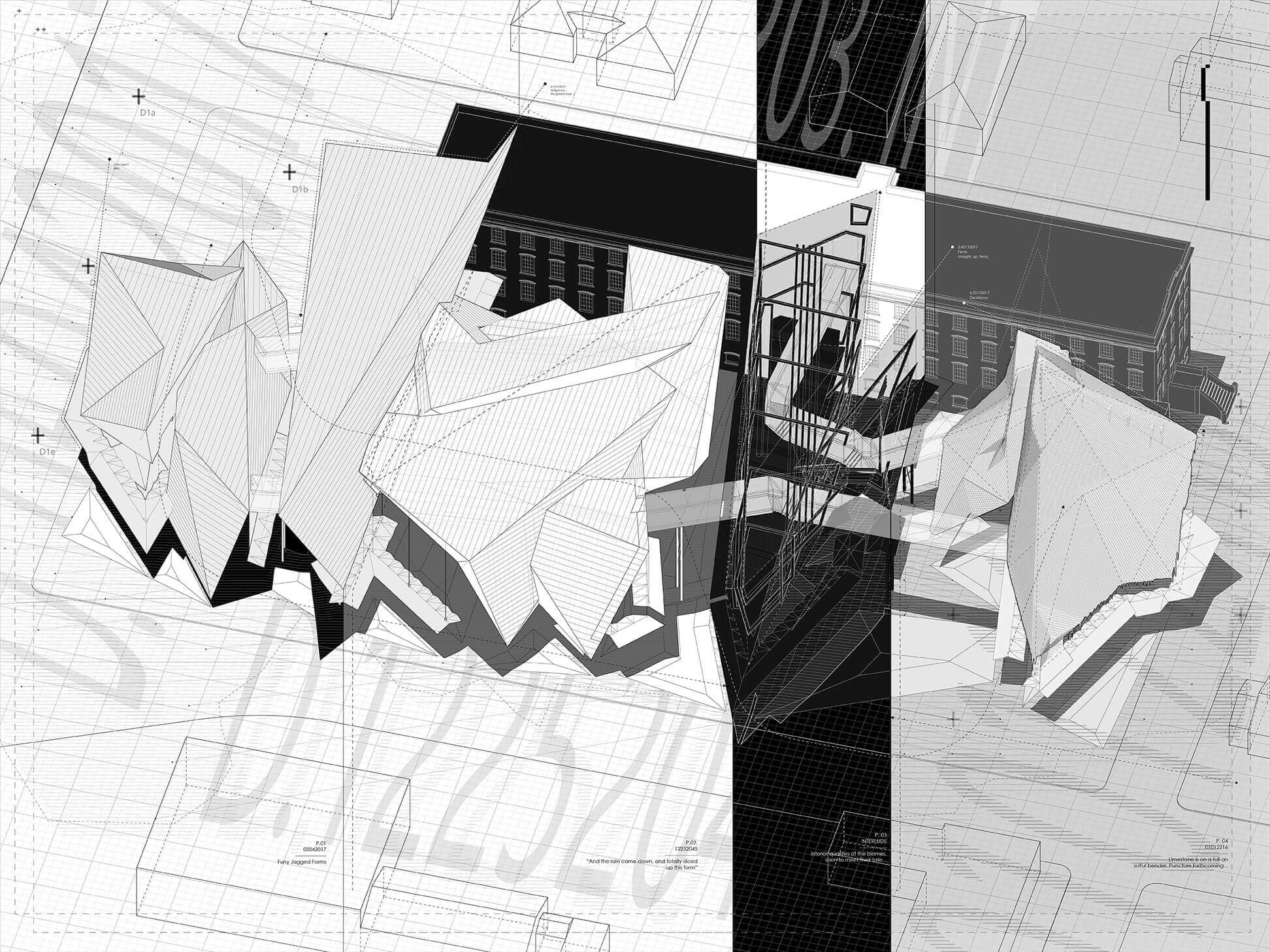 Work by Emily Hertzberg, B.Arch '17 and Andrew Martens, B.Arch '17