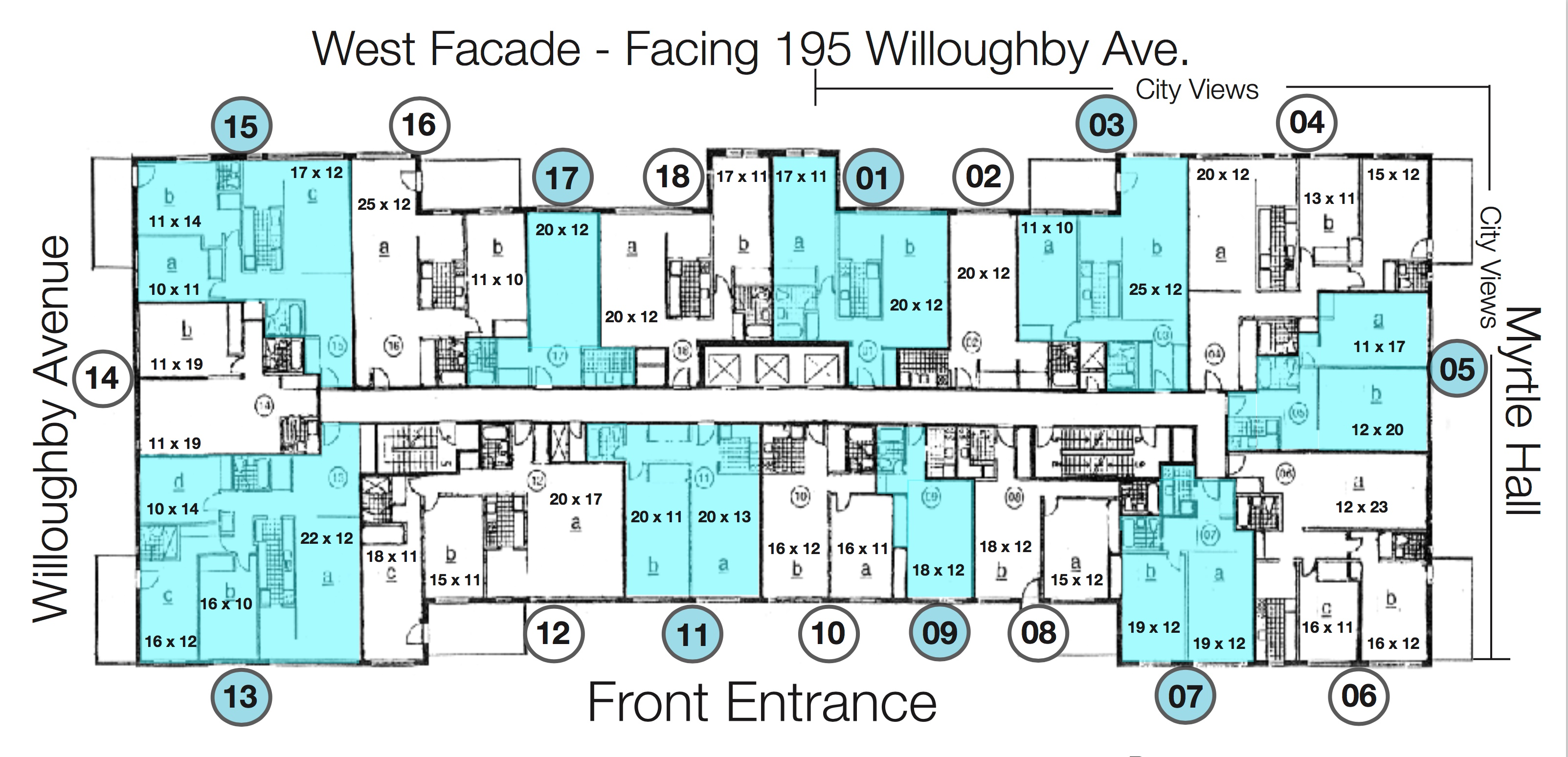 Willoughby Hall Floorplan