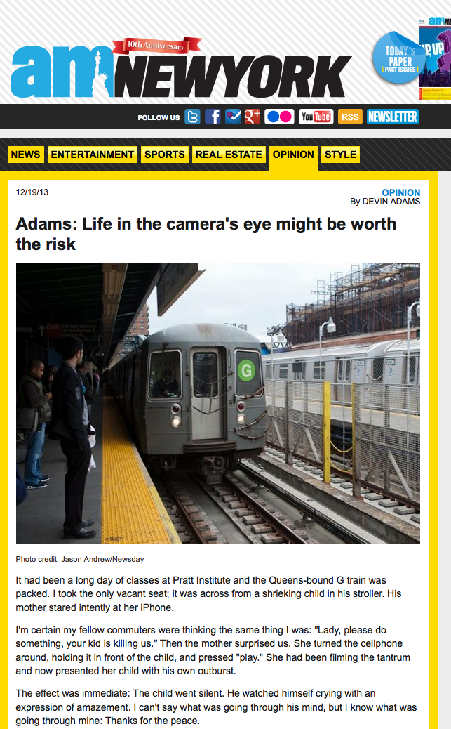 Devin Adams�s opinion piece that was published in amNY
