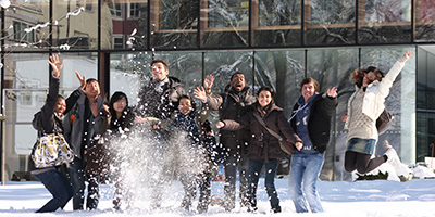 Graduate Architecture Students in snow
