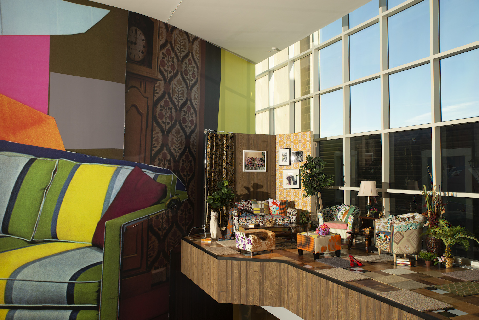 Installation view of Mickalene Thomas: A Moment's Pleasure at the Baltimore Museum of Art
