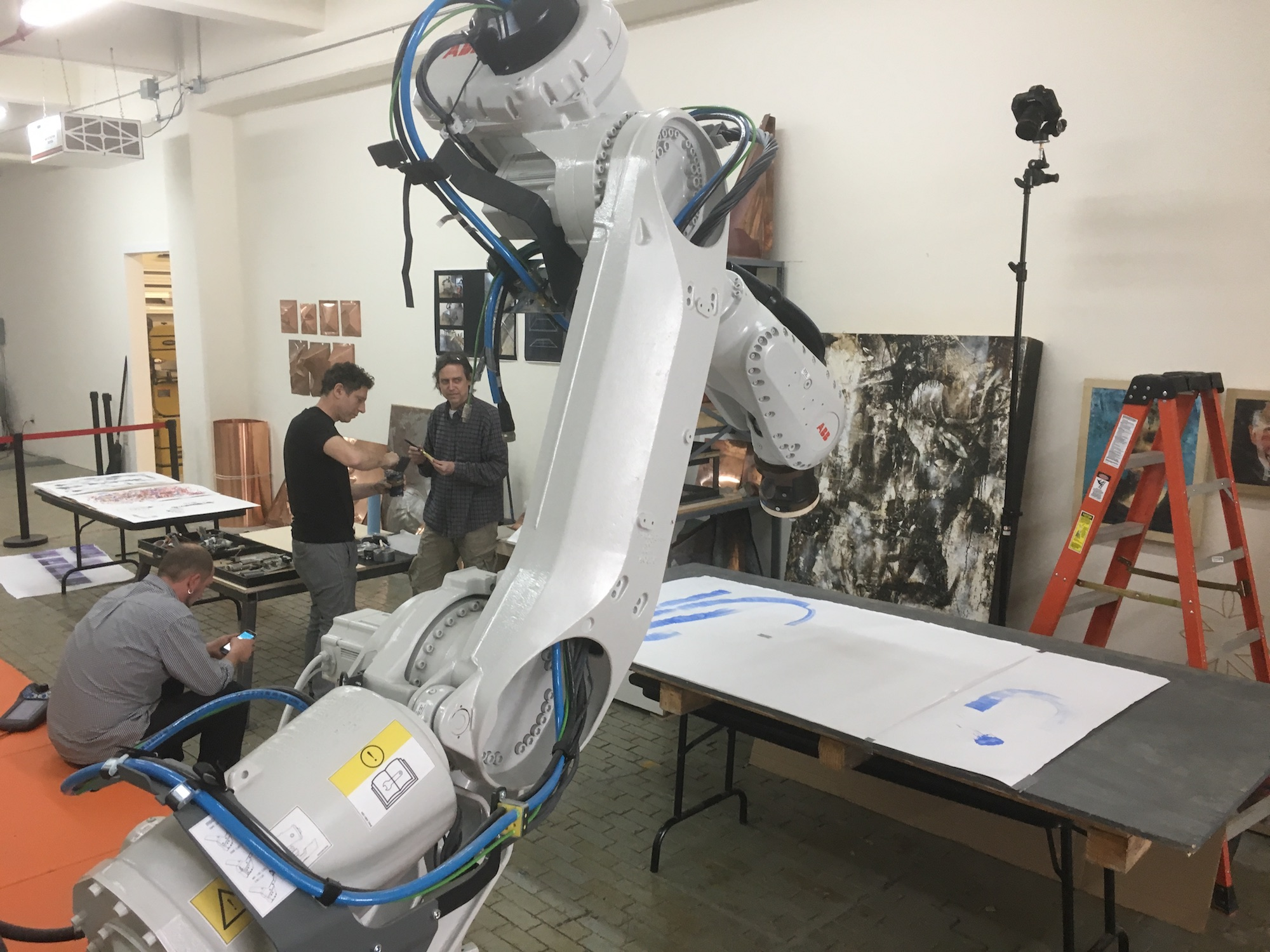 Artmatr creating robotic art at CRR