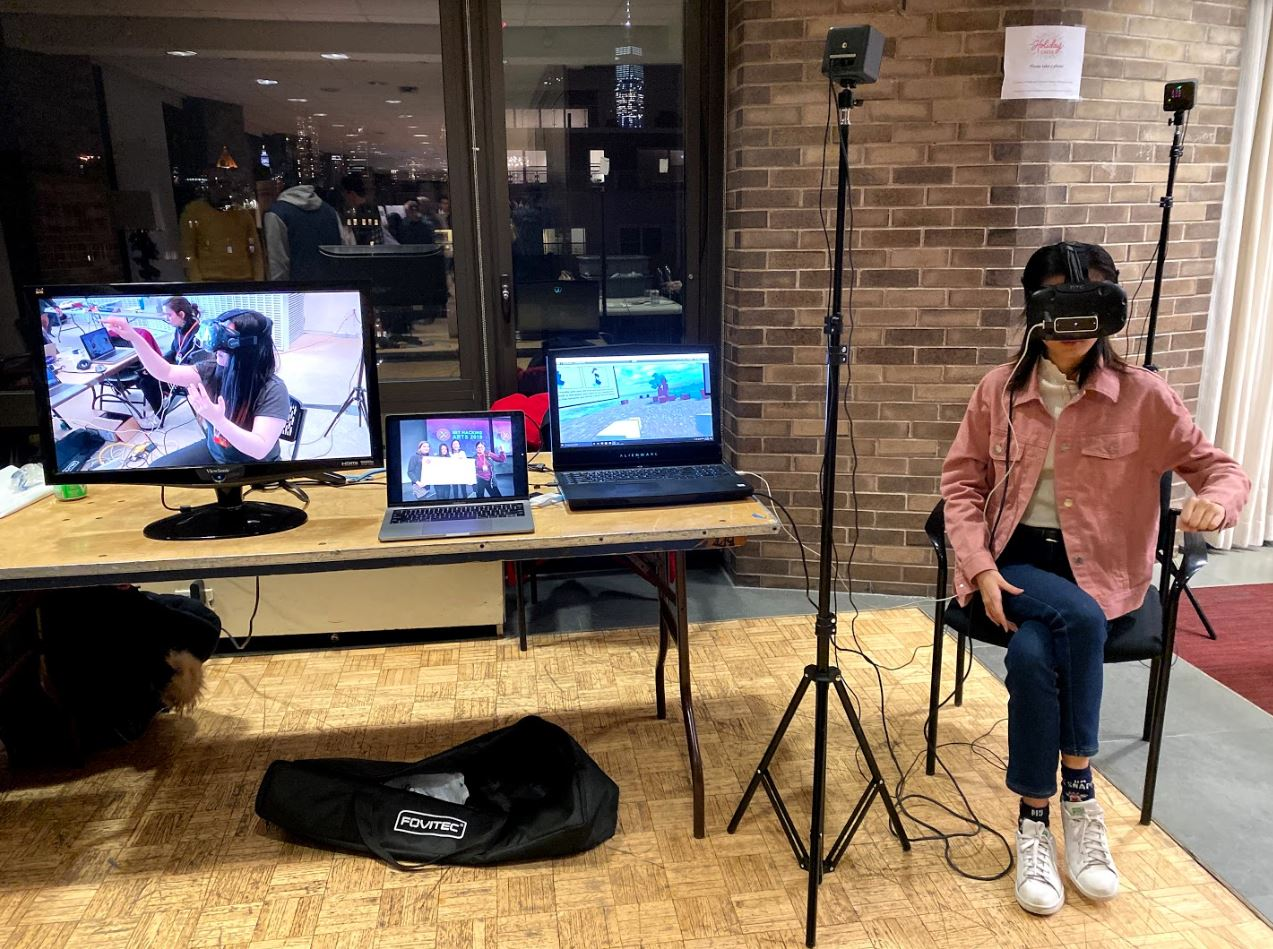 Interacting with Flex VR, designed by Yuting Wang, BID '20