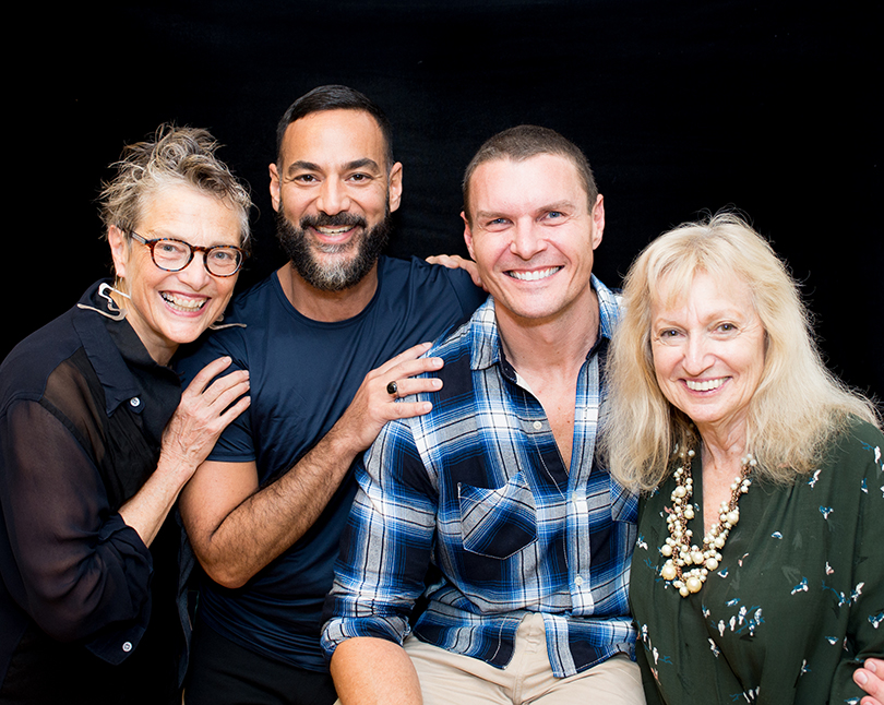 Left to right: Bella Meyer, Oscar Mora, Lewis Miller, Eileen Johnson, founder and director of special projects, FlowerSchool NY
