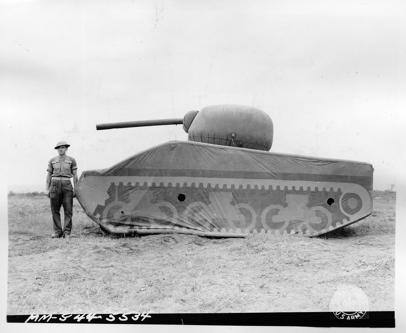 Example of a dummy tank (1944) (courtesy Department of Defense/National Archives)