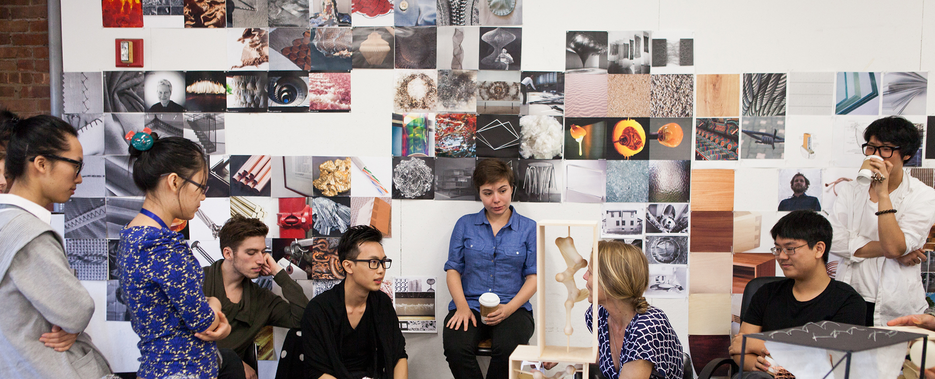 Students in Faculty in a studio class