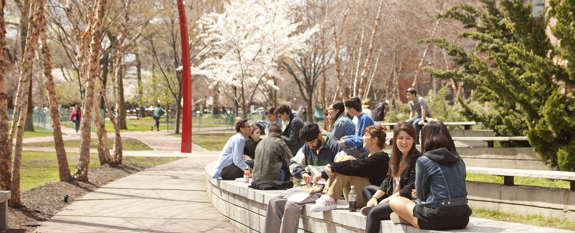 Students on Pratt campus