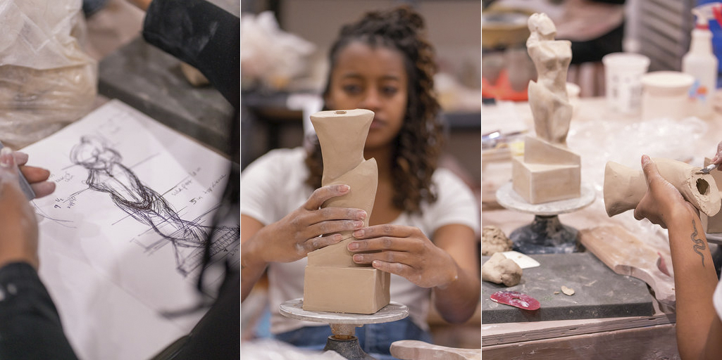 Nala Turner and Imani Shanklin Roberts making the Lena Horne Prize for Artists Creating Social Impact (courtesy the artists)