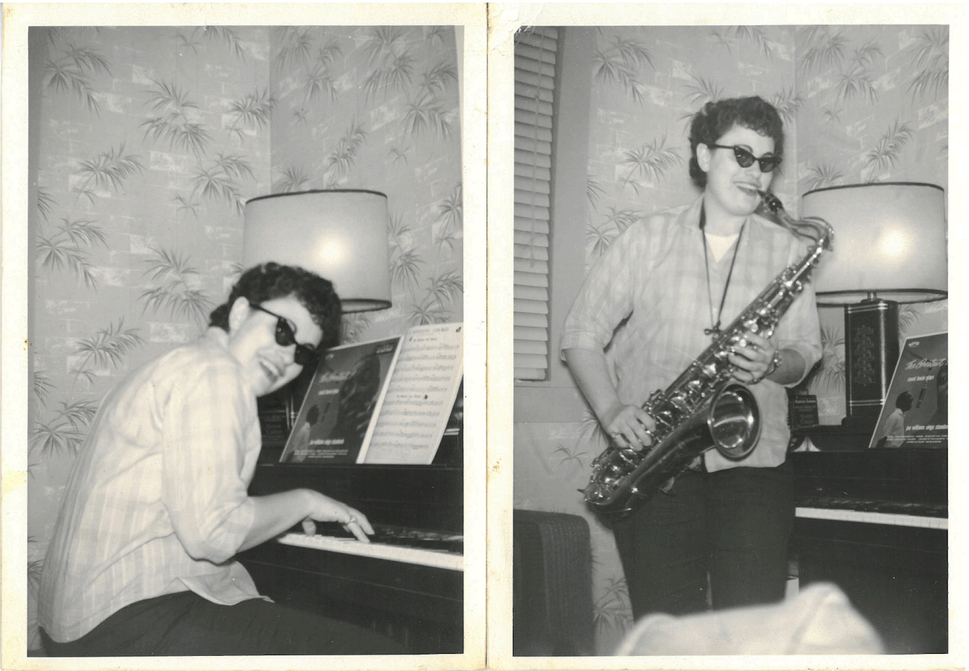 1960s photographs of jazz musician Zena Latto in her sister Claire Richmond's New Orleans home (courtesy Claire Richmond)
