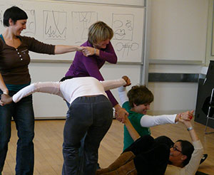 Dance/Movement Therapy Graduate students in the classroom