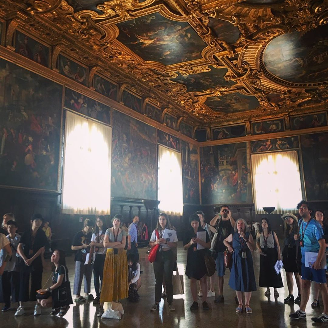 Pratt students tour the Doge's Palace in Venice