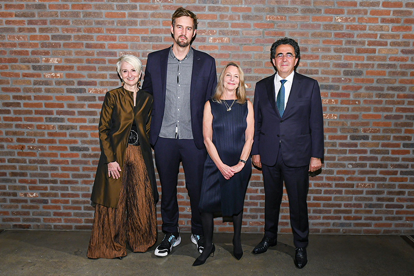Pratt Institute President Frances Bronet, Miguel McKelvey, Paula Scher, and Santiago Calatrava at Legends 2019