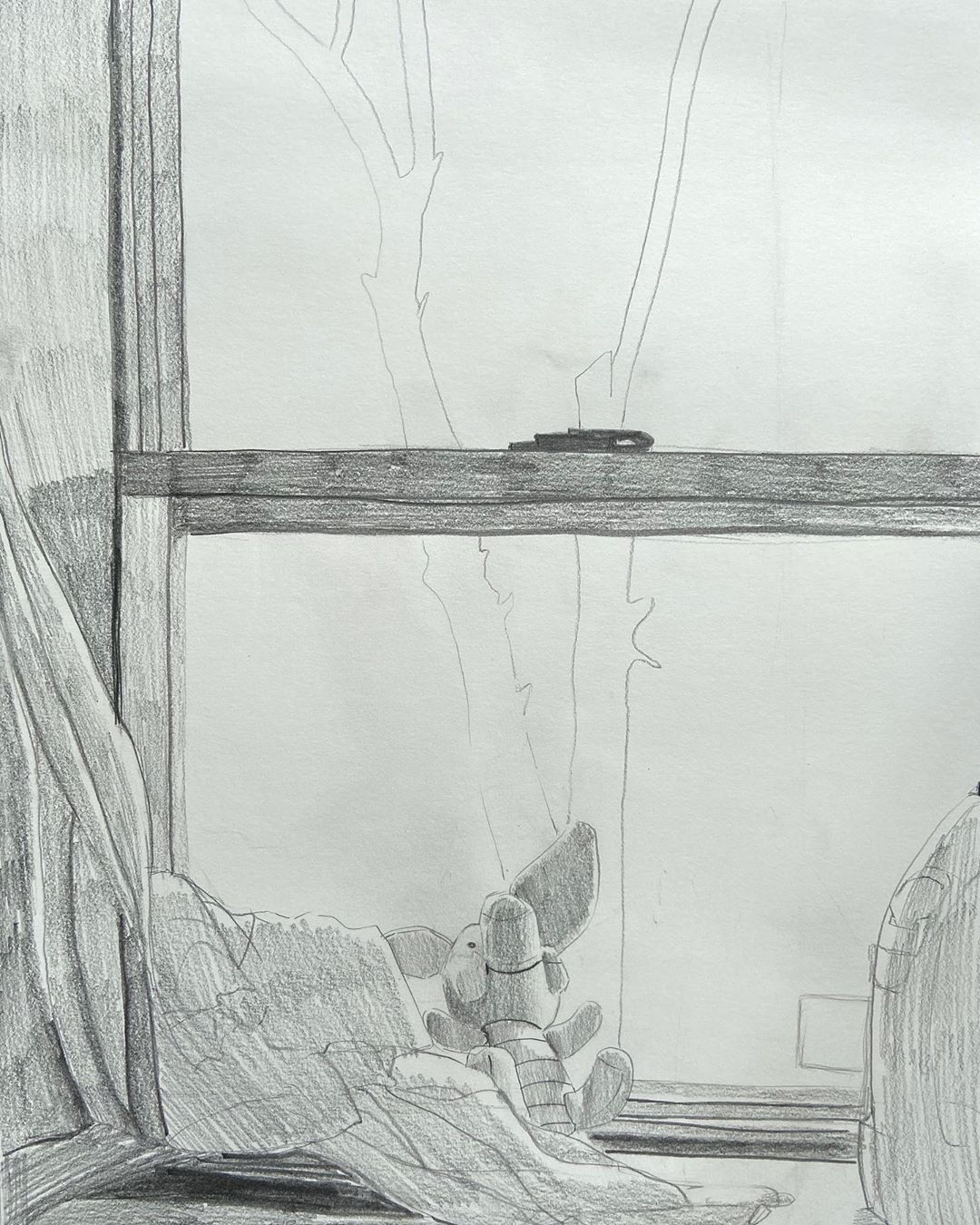 Drawing by Yasmmine Yoon created as part of Pratt Young Scholars (via @PrattInstitute/Instagram)
