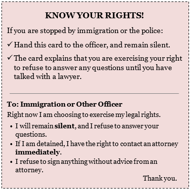 Know Your Rights - What To Do if Stopped By An Immigration Officer