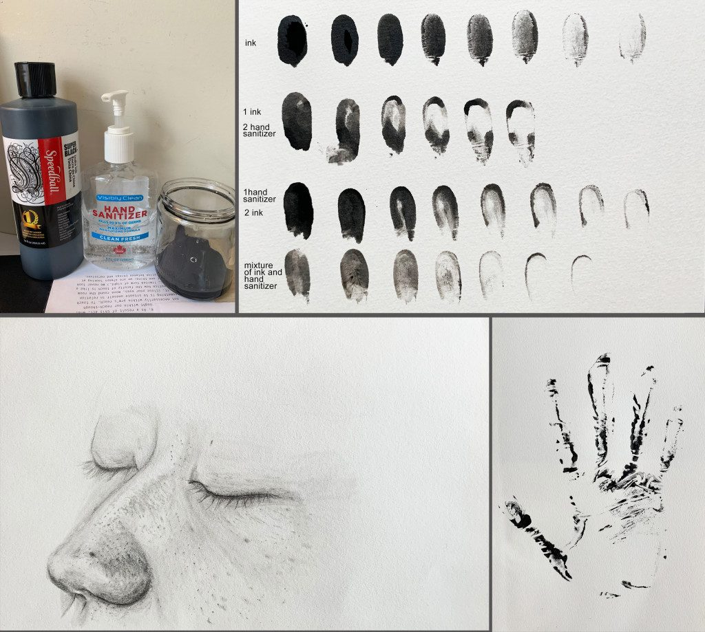 Drawing a self-portrait in 25 parts in the Graduate Drawing class (via Fine Arts)