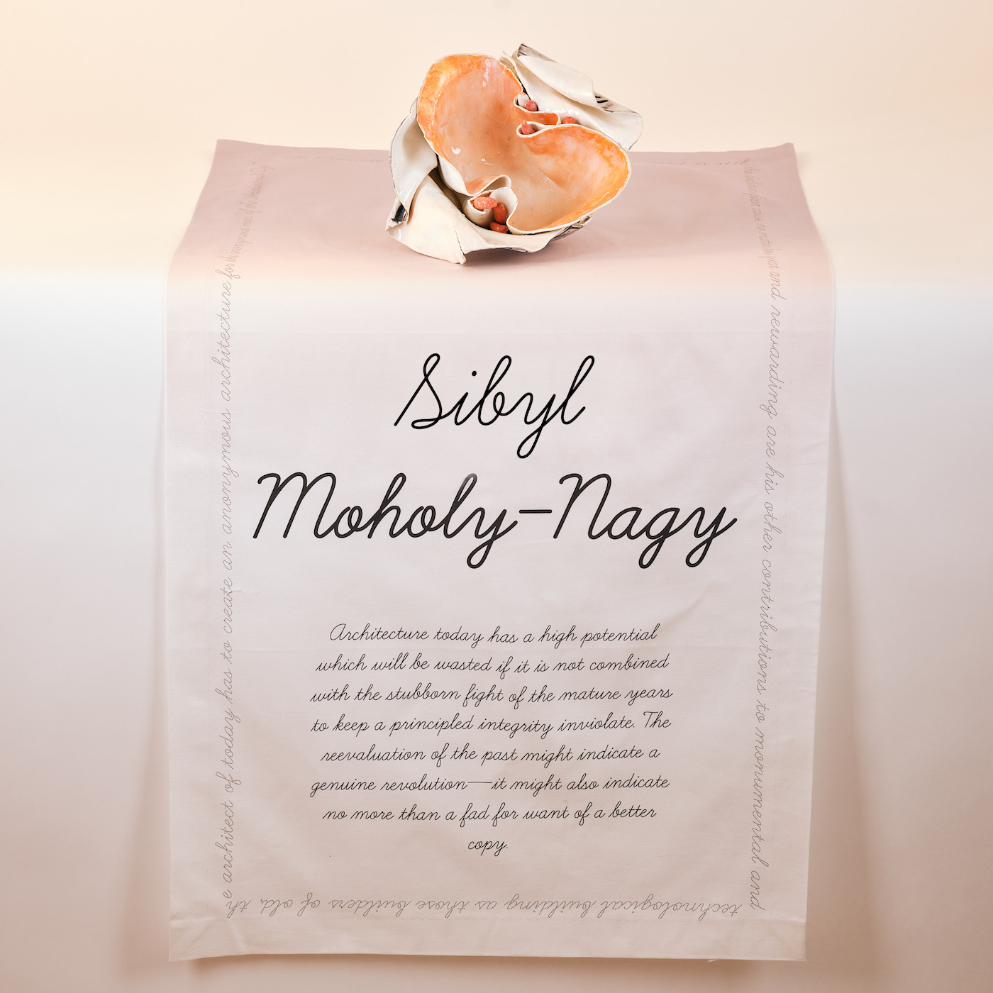 Mistresses of Pratt place setting for Sibyl Moholy-Nagy (photo by Adam Elstein)