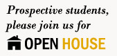 Prospective Students, please join us for Open House