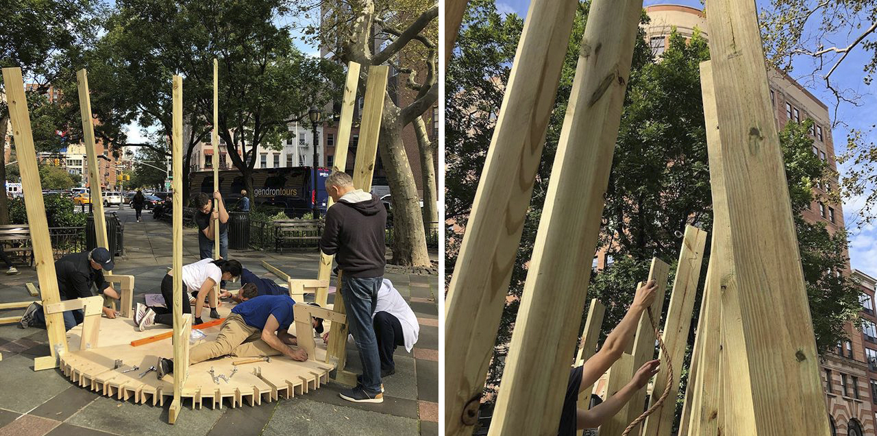 Construction of the sukkah