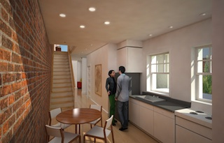 Kitchen in The Townhouses