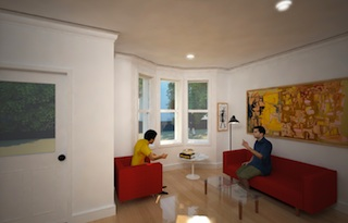Living Room in The Townhouses