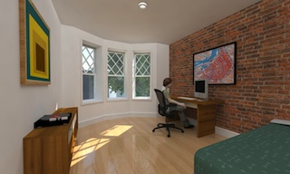 Bedroom in The Townhouses