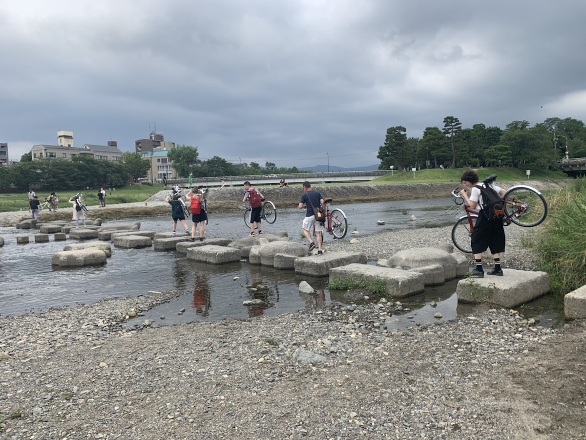Pratt students on a Kyoto bicycle tour