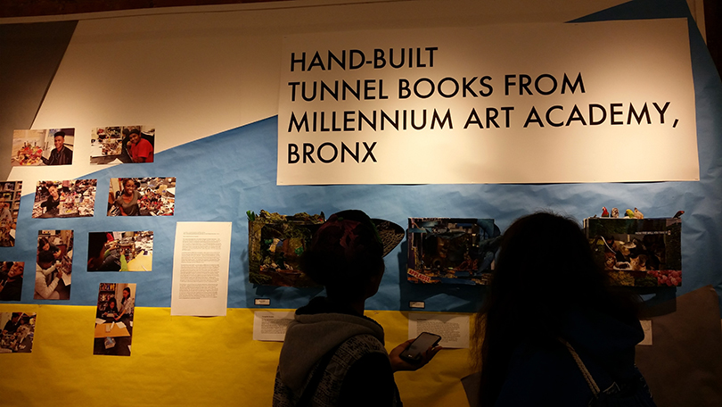Photo from the Contructed Tunnel Books exhibition