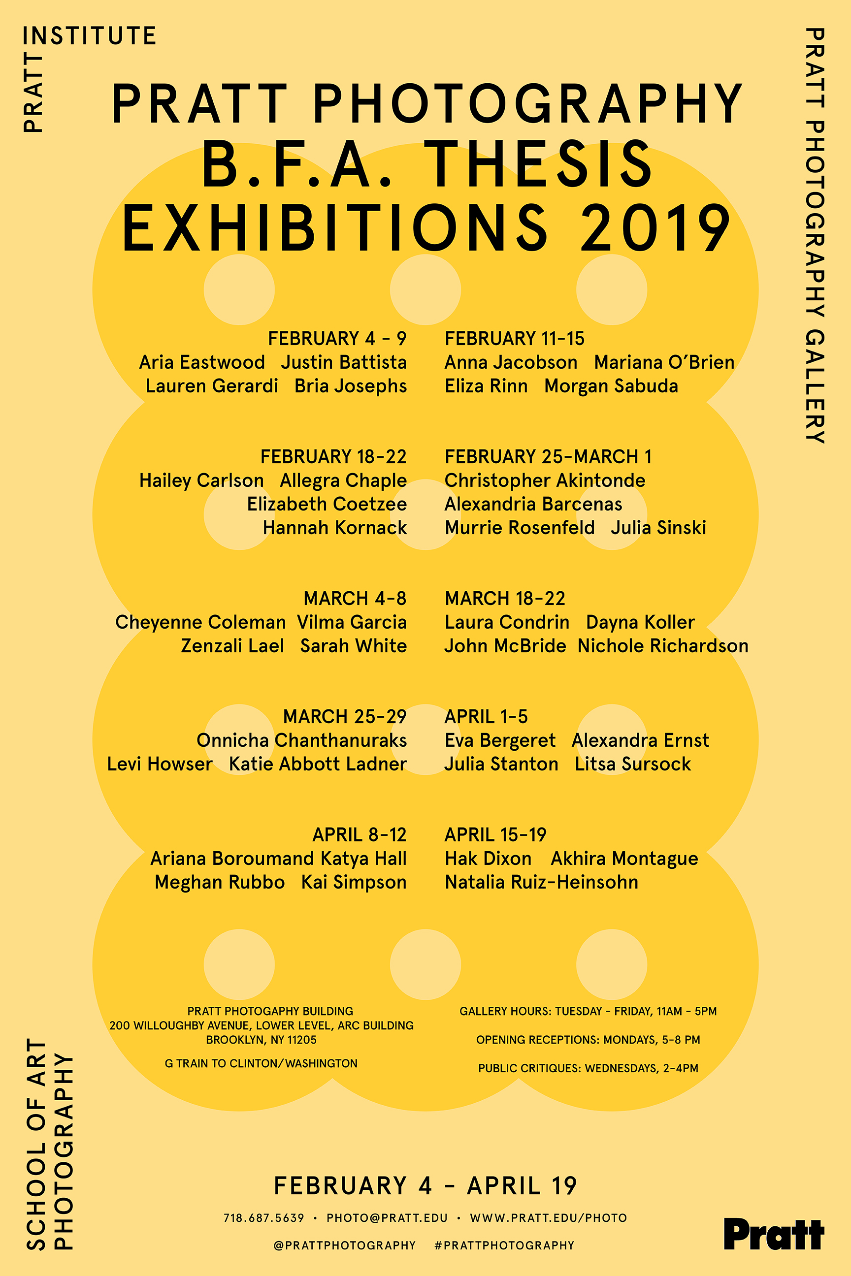 Spring 2019 thesis exhibitions