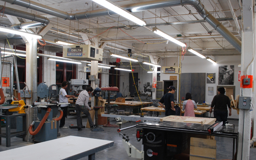 Students at work in the Form and Tech Lab