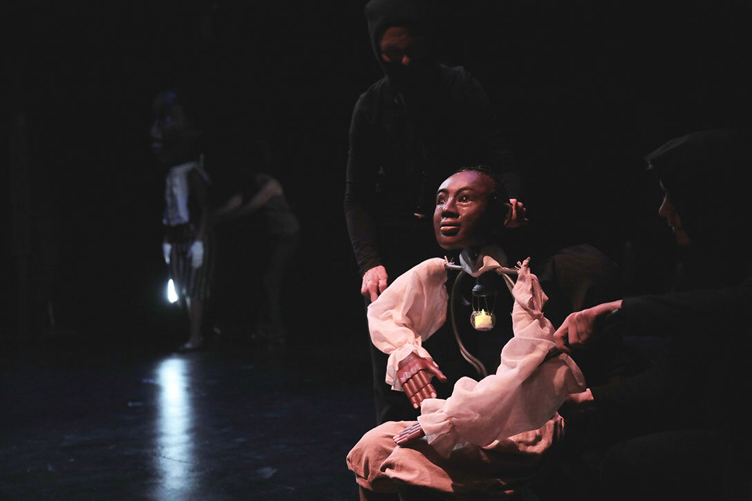 Benjamin Banneker puppet by Theodora Skipitares. Photo by Theo Cote