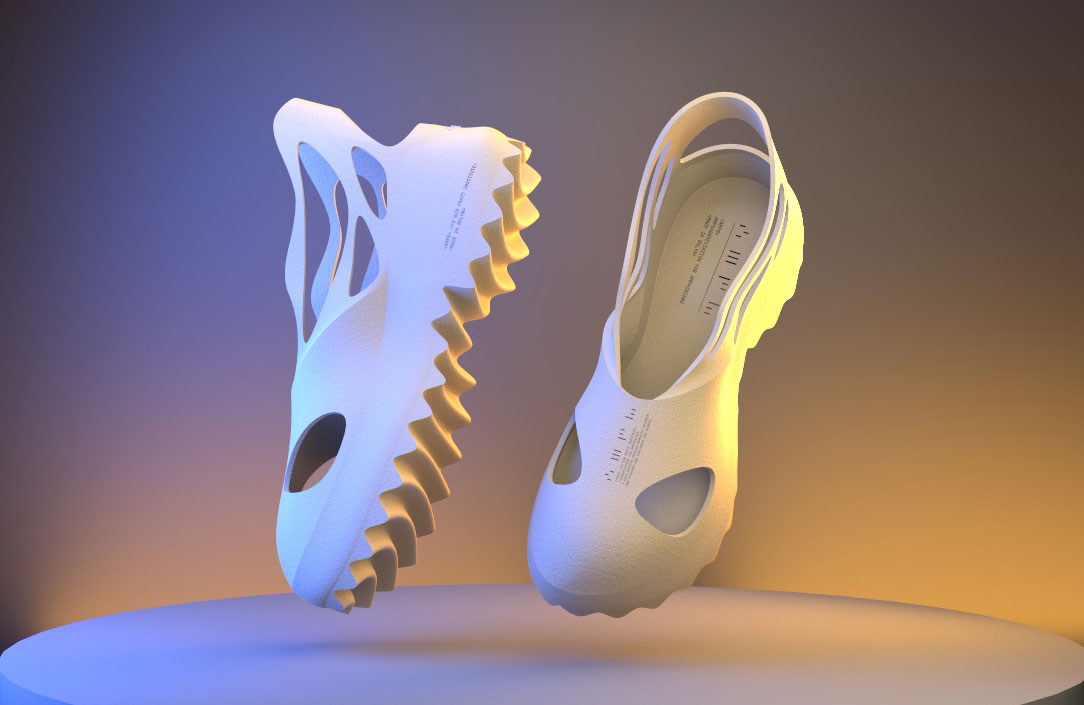medial and top view of the shoe design
