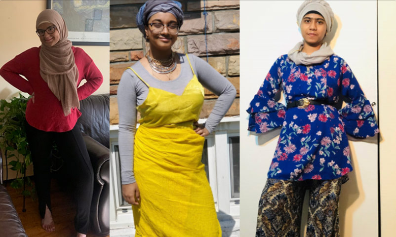 Teenage girls show off their newly designed and styled fashion looks