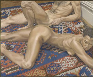 Male and Female Models on a Kilim Rug (1978)