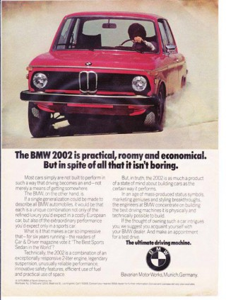 BMW Print Advertisement (1975)