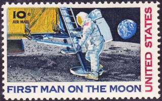 First Man on the Moon for the United States Postal Service (1969)