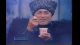 """Son of Russia,"" television commercial, Dannon (1978)"