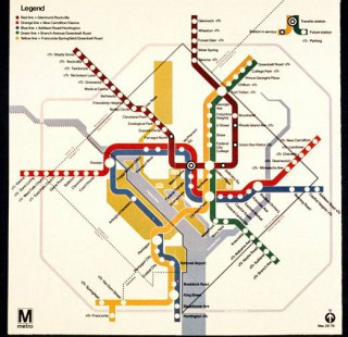 Washington, D.C., Metro Map (1976)